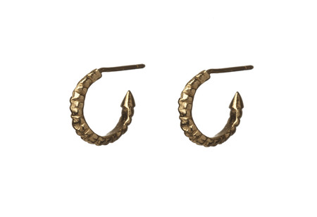 ROS MILLAR - Small Gold Thorn Hoops