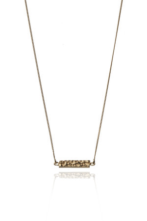 ROS MILLAR - Textured Bar Necklace