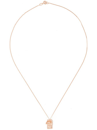 ROS MILLAR - Textured Tag Necklace