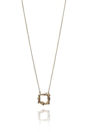 Ros Millar - Gold Frame Necklace