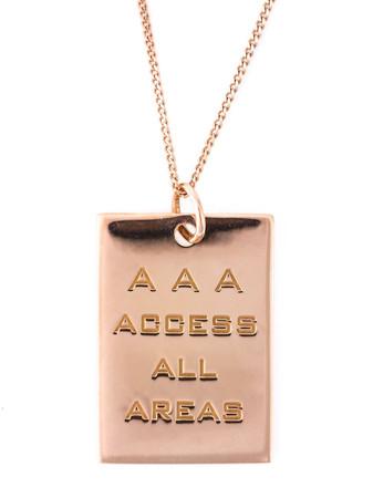 TRUE ROCKS - AAA Pass Necklace