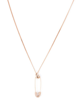 TRUE ROCKS - Rose Gold Small Safety Pin Necklace