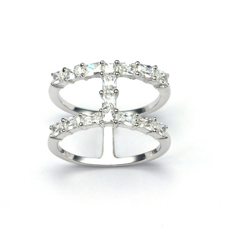 V JEWELLERY - Baguette Spine Ring