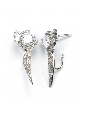 V JEWELLERY - Brilliance Flitch Lobe Earrings
