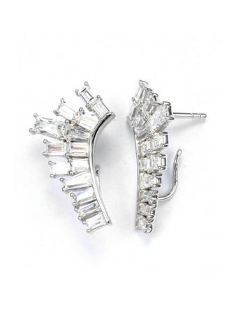 V JEWELLERY - Deco Baguette Lobe Earrings