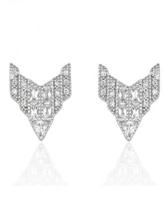 V JEWELLERY - Deco Chrysler Earrings