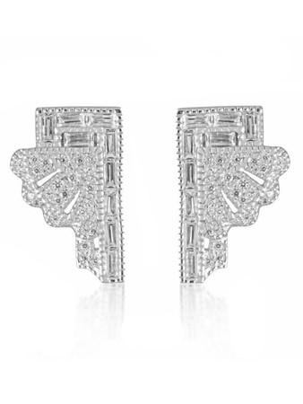 V JEWELLERY - Deco Fan Earrings