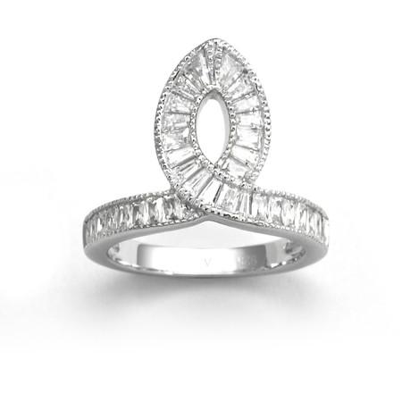 V JEWELLERY - Deco Taper Ring
