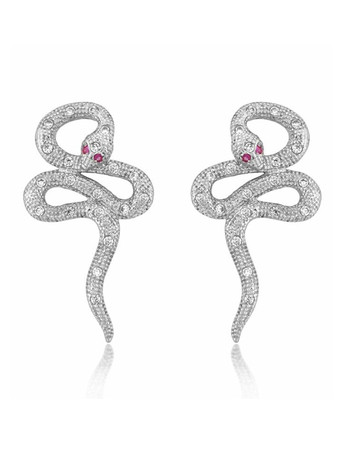 V JEWELLERY - Mythos Serpent Earrings