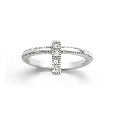 V JEWELLERY - Ridge First Knuckle Ring