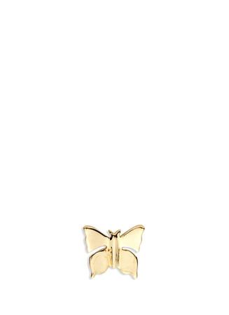 14k yellow gold butterfly single earring - Metamorphosis