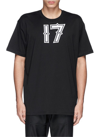 '17' embroidery cotton T-shirt