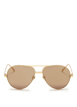 22k gold plated titanium aviator sunglasses