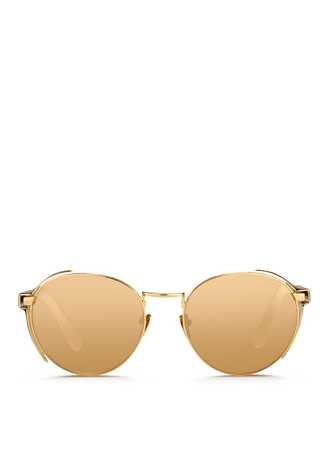 22k gold plated titanium snakeskin blinker sunglasses