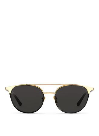 22k gold titanium rim acetate sunglasses