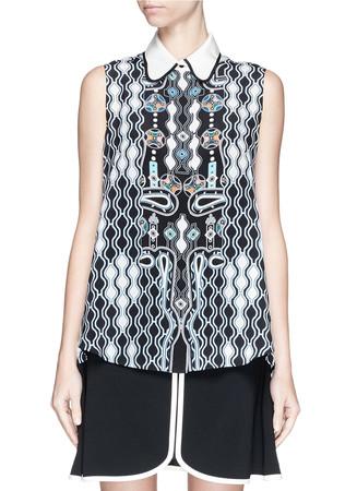 'Ace' digital pinball print silk shirt