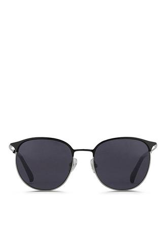 Acetate brow bar wire frame sunglasses