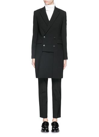 'Adair' wool blend crepe coat