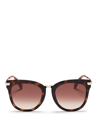 'Adeline' rounded cat eye acetate sunglasses