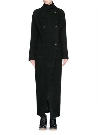 'Alby' double breasted boiled wool coat