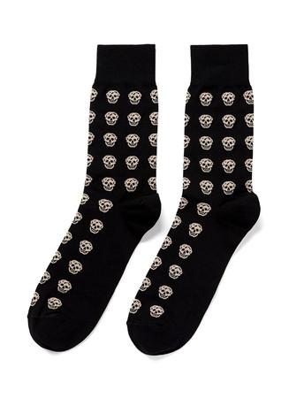 Allover short skull socks