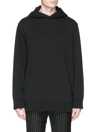 'Anex' side zip hoodie