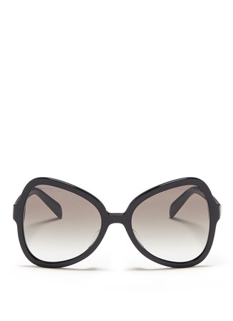 Angular butterfly acetate sunglasses
