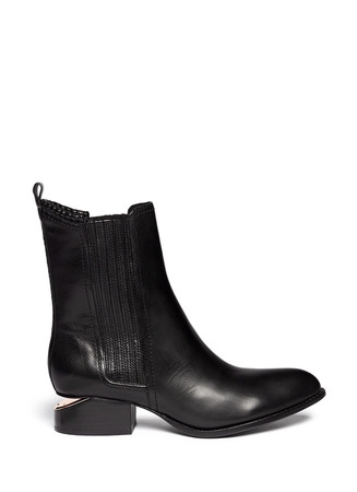 'Anouck' cutout heel leather Chelsea boots