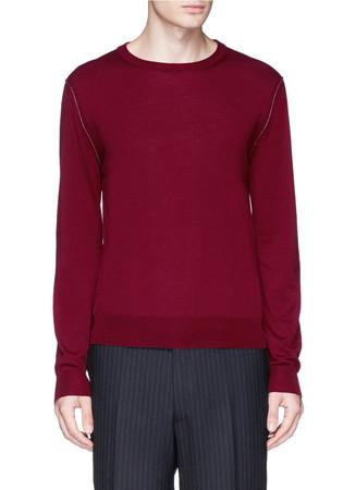 Armseye trim wool sweater