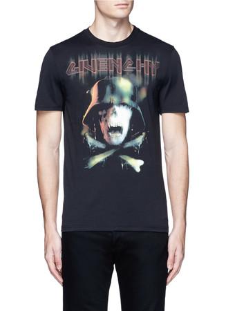 Army skull print T-shirt