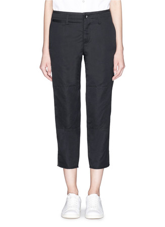 'Ashbury' cotton-linen cropped pants