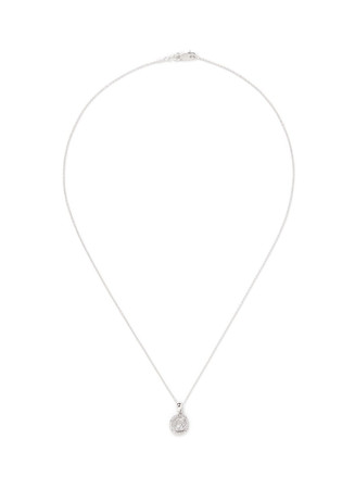 'At @' diamond pendant necklace