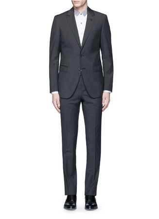 'Attitude' slim fit wool houndstooth suit