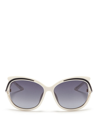 'Audacieuse 2' metal trim acetate sunglasses