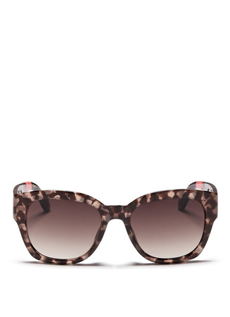 'Audrina' round cat eye tortoiseshell acetate sunglasses