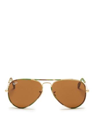'Aviator Camouflage' fabric rim wire sunglasses