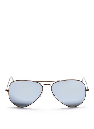 'Aviator Flash Lenses' metal sunglasses
