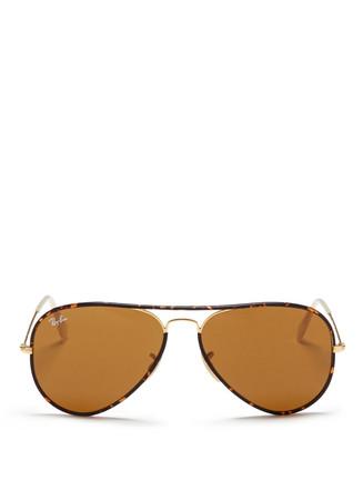 'Aviator Full Colour' acetate rim wire sunglasses