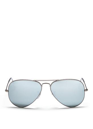 'Aviator Large Metal' mirror sunglasses