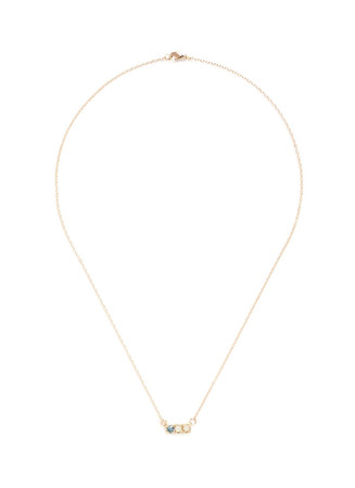 'BFF' 14k yellow gold necklace