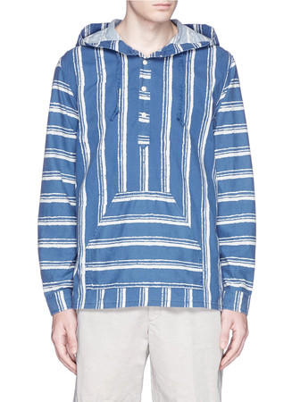 Baja shirt in shibori stripe