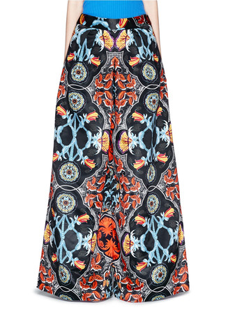 Baroque print high waist culottes