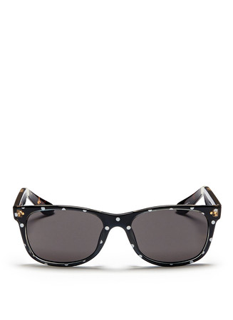 'Beachmaster' polka dot acetate sunglasses