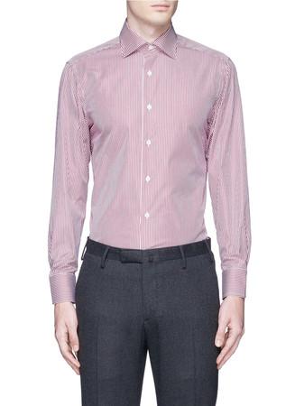 Bengal stripe cotton poplin shirt