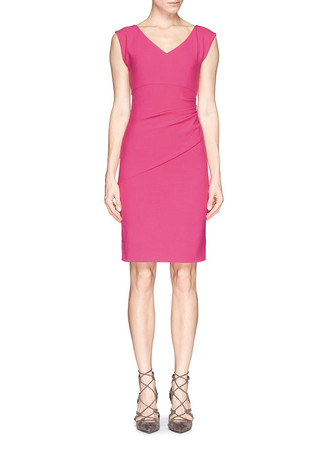 'Bevin' ruche waist sheath dress