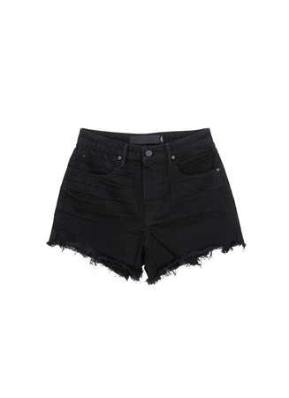 'Bite' frayed cuff denim shorts