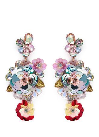 Blooming sequin paillette earrings