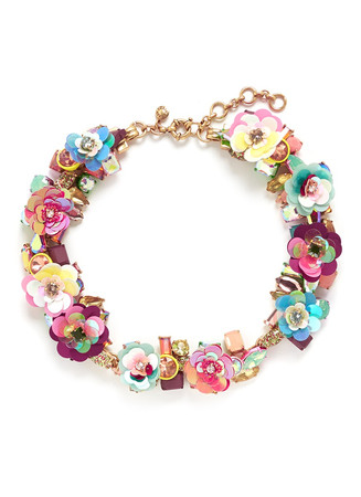 Blooming sequin paillette necklace