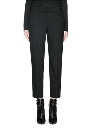 Bonded cuff stretch gabardine pants