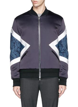 Bonded jersey bomber jacket